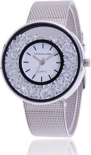 Shim Watch Svar Dámské kovové hodinky s kamínky stříbrné - Glami.cz 6070d09e6f
