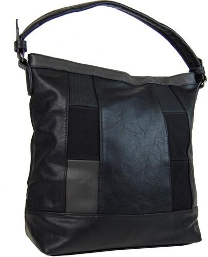 NEW BERRY Elegantná kombinovaná dámska kabelka so vzorom NH6071 čierna 3c8141f7a64