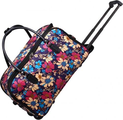 8cf7fa4579e Dámská barevná cestovní taška Flower 0012 - Glami.cz