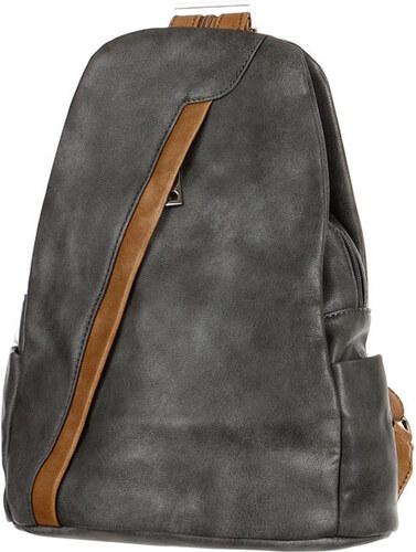 7dff4c8e479 YooY Koženkový batoh kabelka 3V1 (šedá) šedá - Glami.cz
