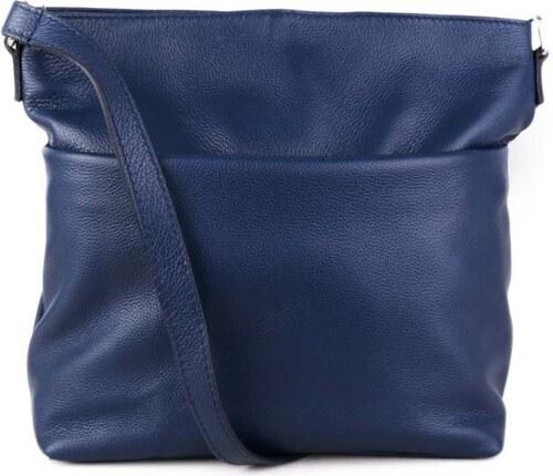 Talianske kožené luxusné kabelky cez plece modré Ilona - Glami.sk 36e112bb1d7