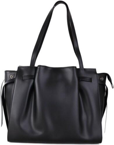 5bff8eeac26cf Talianske kožené luxusné kabelky cez plece čierne veľké Torenta, NEW ...
