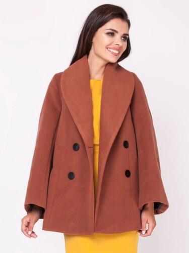 Naoko Dámsky kabát AT125 BROWN - Glami.sk 0c8064b47d0