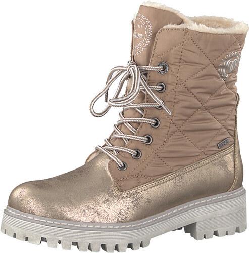 55e5166377 s.Oliver Dámske členkové topánky Rose Metallic 5-5-26250-39-519 ...