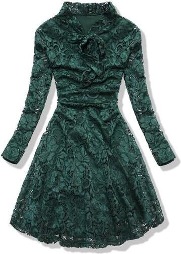 f410988b8100 Butikovo Zelené čipkované šaty - Glami.sk