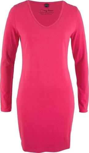 7a47cd73271b5e bpc bonprix collection Stretch-Shirtkleid, Langarm in pink von bonprix