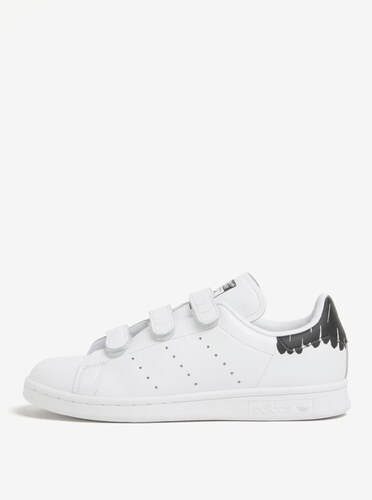 Biele dámske tenisky na suchý zips adidas Originals Stan Smith ... 96a173703e4