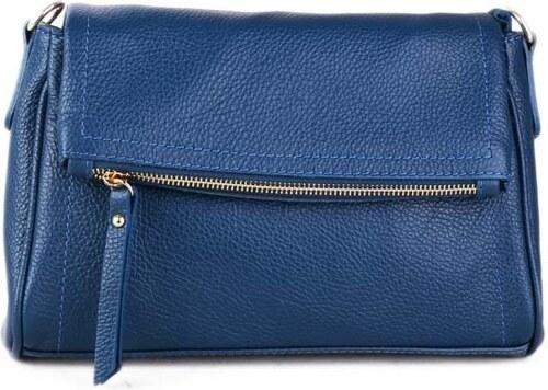 Talianske kožené luxusné kabelky cez plece modré osmana - Glami.sk a385451eff7