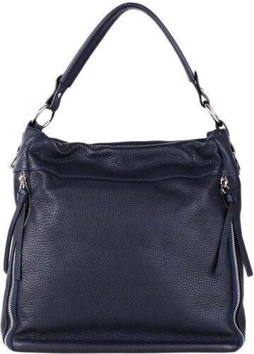 Talianske kožené luxusné kabelky cez plece tmavomodré Ezaura - Glami.sk 48f4e6959b8
