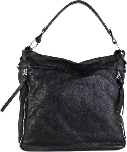 28b02a9399 ITALSKÉ Kožené kabelky přes rameno Vera Pelle černé Ezaura
