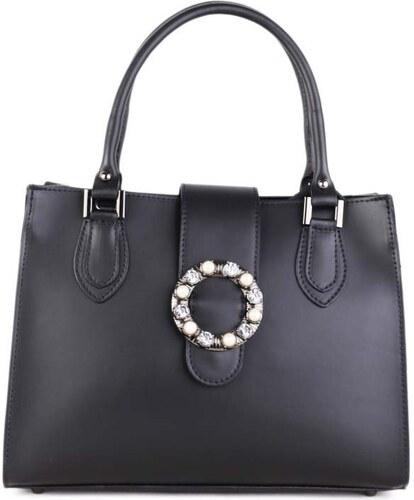 543020309e ITALSKÉ Černé luxusní kožené kabelky Vera Pelle Agata - Glami.cz