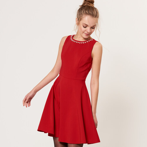 6a1b089bee Mohito - Elegáns ruha bizsu díszítéssel - Piros - Glami.hu