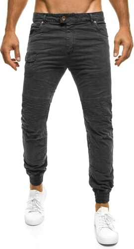 90ba6333b51 XZX-Star Moderní pánské černé baggy kalhoty XZX-STAR 81608 - Glami.cz