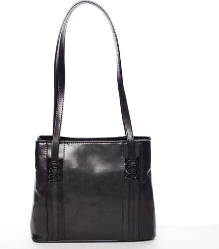 a8453876056c Čierna kožená kabelka cez rameno - ItalY Zosimovi čierna - Glami.sk