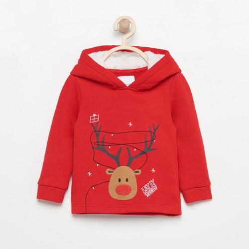 47eb07ff53d4 Reserved - Vianočná mikina s kapucňou - Červená - Glami.sk