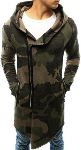 f0c3bb2ab449 Manstyle Pánsky sveter rozopínajúce s kapucňou woodland maskáčový ...