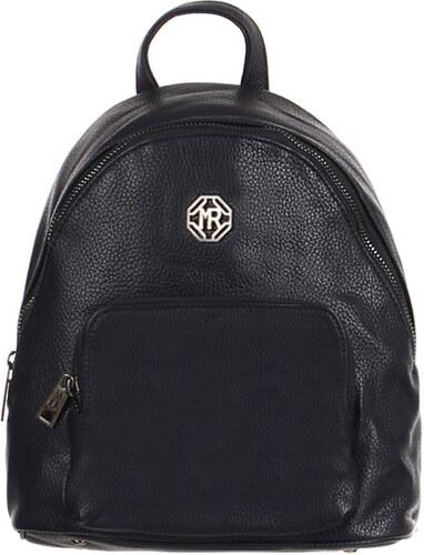 Glara Dámský městský elegantní koženkový batůžek s přední kapsou ... ef37912977