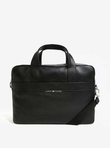 98b5bfbf39 Černá pánská kožená taška na notebook Tommy Hilfiger - Glami.cz