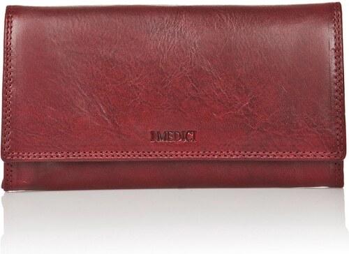 1fe834c1e9 Červená dámska peňaženka z teľacej kože Medici of Florence Shiny ...
