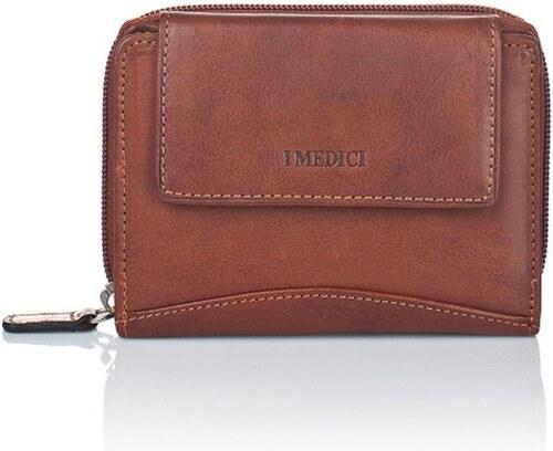 7af7cbaabb Sýtohnedá dámska peňaženka z teľacej kože Medici of Florence Sisto ...