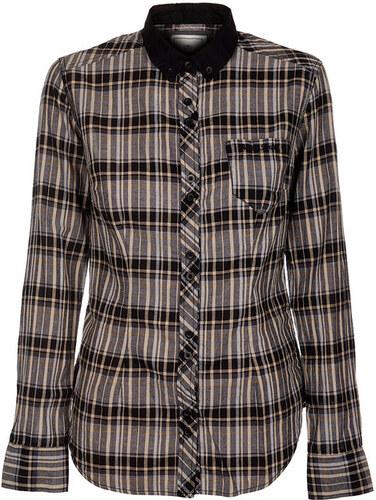 Dámská černobílá kostkovaná košile Timeout se žlutým proužkem - Glami.cz 5a37b29243