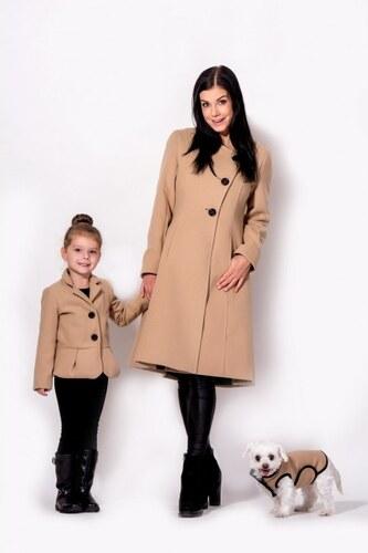 9b228a579e3 Elegantní dámský zimní kabát se stojáčkem