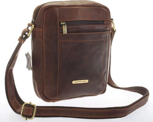 SendiDesign Perfektná pánska hnedá kožená taška - Sendi Design Halir hnedá 0da84aed2c2