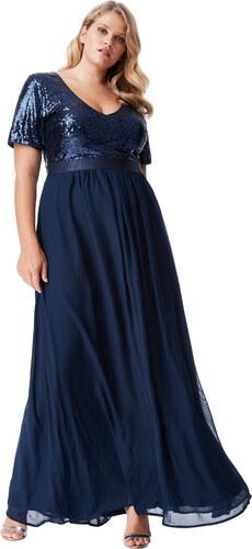 Bellazu CG Dlouhé plesové šaty Laura tmavě modré - Glami.cz 9fb6f2ba72