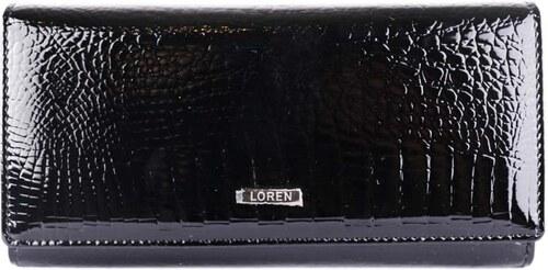 Loren kožená peňaženka veľká dámska čierna 64003-RS black - Glami.sk 7ae4d1253cc