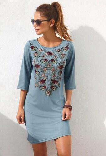 7620eca5c295 Vypredaj-zlavy.sk Krátke šaty s potlačou kvetín modrá - Glami.sk