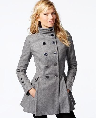 Dámský vlněný kabát Calvin Klein Skirted Coat - Glami.sk 690885c4ab