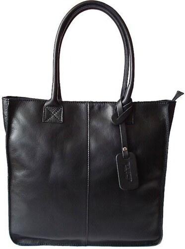 d5048606c9 Kožená shopper bag kabelka Vera Pelle 03 černá - Glami.cz