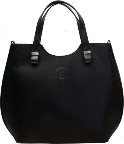 fa255435d8 Kožená shopper bag kabelka Vera Pelle 846 černá - Glami.cz