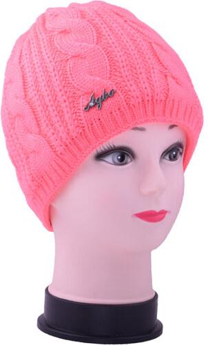 T N Zimní pletená čepice - neon růžová - Glami.cz 1d4c90a54e