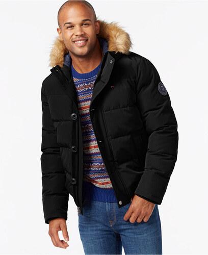Tommy Hilfiger pánská bunda Snorkel Coat černá S - Glami.sk ed0cc32a507