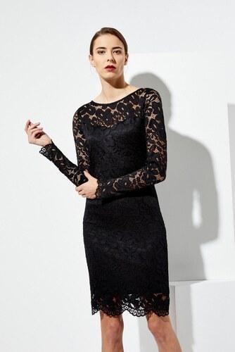 b96eac29fe8 Moodo šaty dámské krajkové s dlouhým rukávem - Glami.cz