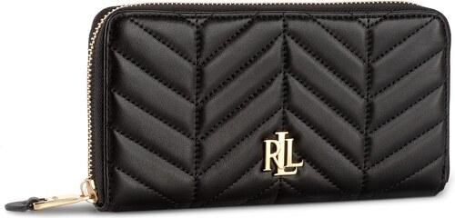 486f0cda00 Nagy női pénztárca LAUREN RALPH LAUREN - Zip Wallet 432678844001 Black