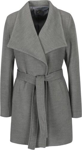 Světle šedý kabát se zavazováním v pase ZOOT - Glami.cz 70f99cf181