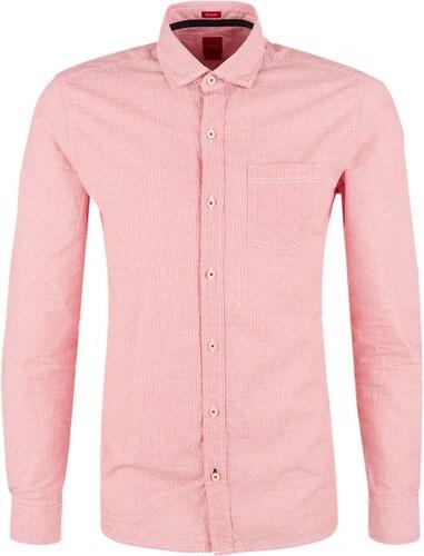 S.OLIVER s.Oliver pánská proužkatá košile regular fit růžová f90955e7be