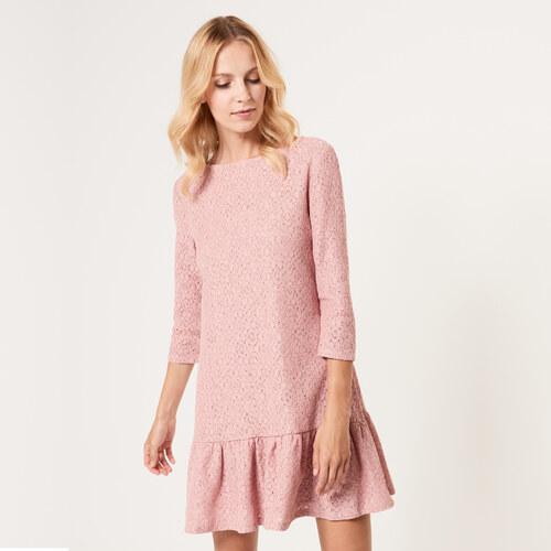 Mohito - Krajkové šaty s volánem - Růžová - Glami.cz 74bb83eeeff