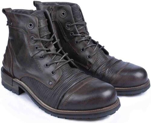 YELLOW CAB Tear Dark Brown (pánské kotníčkové boty) - Glami.cz 2b7607c608