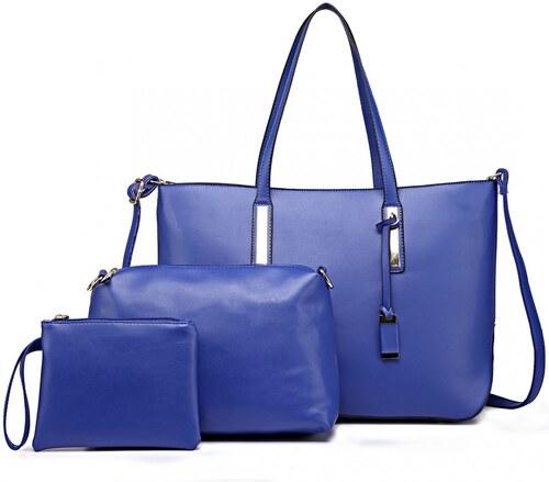 Modrá luxusní moderní dámská 3v1 kabelka Luxien - Glami.sk f1d0c152c7e