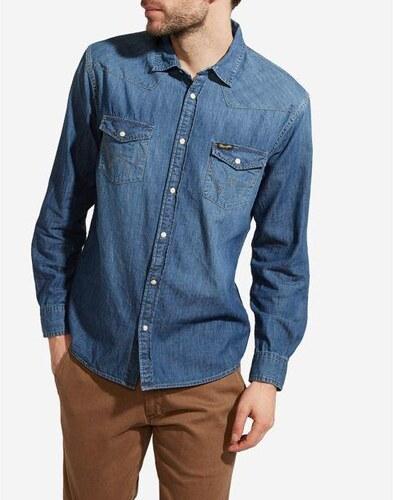 Wrangler pánská džínová košile W5973O78E - Glami.cz 05ef59305e
