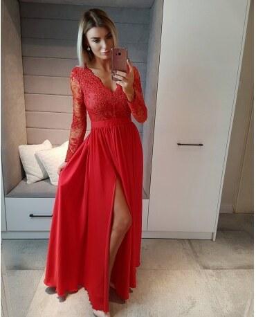 6d9463f09e2 BELLA Elegantní šaty Leila červené 40 - Glami.cz