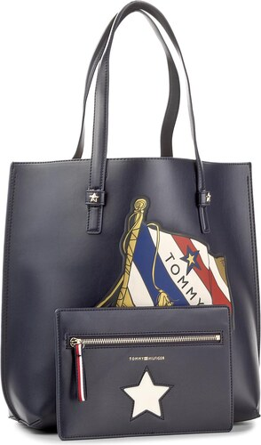 b2a2b00feff0 Geantă TOMMY HILFIGER - Th Effortless Tote Lrg Print AW0AW04855 901 ...