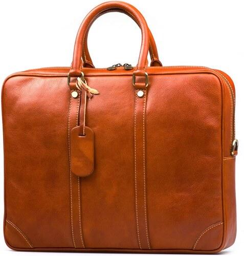 Blaire Kožená pracovní taška Gavin koňakově hnědá - Glami.cz 9fe3363798
