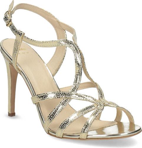 61e61ab7f679 Baťa Zlaté spoločenské sandále z kože - Glami.sk