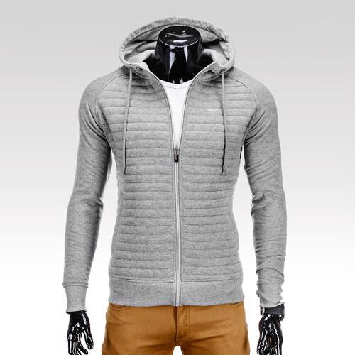 Ombre Clothing Pánská šedá trendy mikina na zip s kapsami Lord ... 37c220c7cd