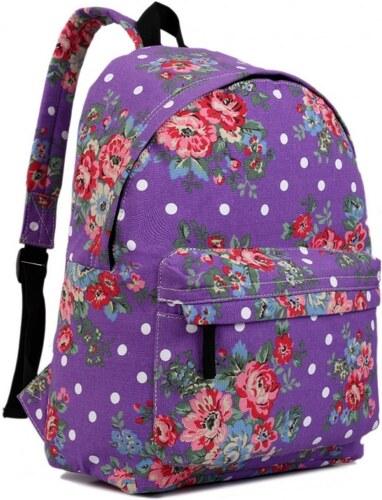 4bebea283dd Miss LULU Batoh Lulu Floral Vintage - fialový - Glami.cz
