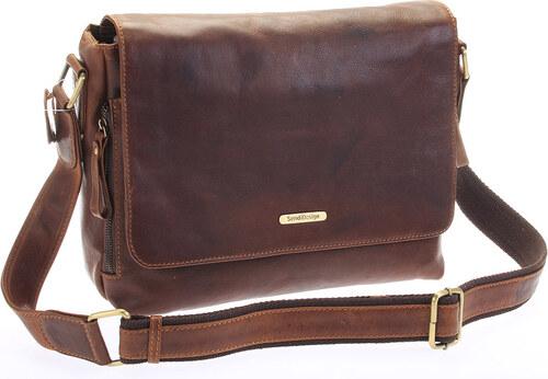 SendiDesign Hnedá luxusná veľká kožená taška - Sendi Design Hermes hnedá 47ef89eb355